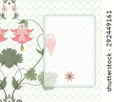 card with vintage pattern in... | Shutterstock . vector #292449161