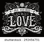 hand drawn vintage print with... | Shutterstock .eps vector #292456751