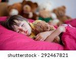 sweet little boy  sleeping in... | Shutterstock . vector #292467821