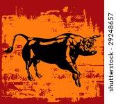 grunge bull background | Shutterstock .eps vector #29248657