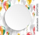 vector air balloons festive... | Shutterstock .eps vector #292497101