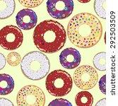 seamless pattern of dessert...   Shutterstock .eps vector #292503509