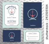 nautical wedding invitation and ...   Shutterstock .eps vector #292505504