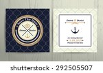 nautical rope wedding save the... | Shutterstock .eps vector #292505507