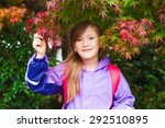 Autumn Portrait Of Adorable...