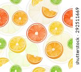 citrus seamless pattern with... | Shutterstock .eps vector #292511669