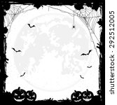 grunge halloween background... | Shutterstock . vector #292512005