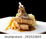 fine dining main course ... | Shutterstock . vector #292522835