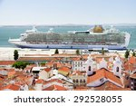 view of big passenger ship in... | Shutterstock . vector #292528055
