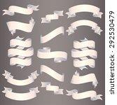 pearl ribbons set. vector... | Shutterstock .eps vector #292530479
