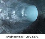 high technology tunnel - stock photo