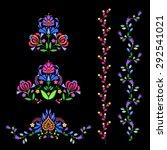 vector borders and headers.... | Shutterstock .eps vector #292541021