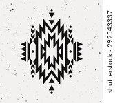 vector grunge monochrome... | Shutterstock .eps vector #292543337