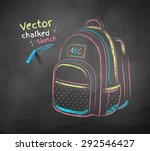 vector color chalk drawing of... | Shutterstock .eps vector #292546427