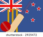 cricket bat and stumps with new ... | Shutterstock .eps vector #2925472