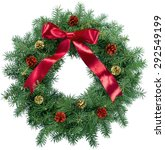 christmas  wreath  holiday. | Shutterstock . vector #292549199