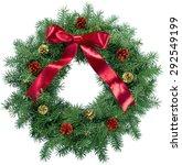 christmas  wreath  holiday. | Shutterstock . vector #292549199