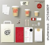 coffee shop corporate identity... | Shutterstock .eps vector #292560809