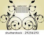 floral banner | Shutterstock .eps vector #29256193