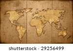 world map vintage artwork | Shutterstock . vector #29256499
