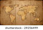 world map vintage artwork   Shutterstock . vector #29256499