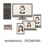 support center digital design ... | Shutterstock .eps vector #292569365