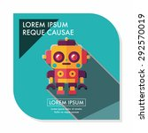 robot concept flat icon with... | Shutterstock .eps vector #292570019