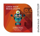 robot concept flat icon with... | Shutterstock .eps vector #292570109