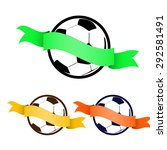 football soccer ball icon with... | Shutterstock .eps vector #292581491