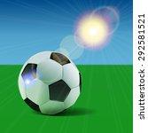 soccer ball. football... | Shutterstock .eps vector #292581521