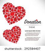 drop heart copy space | Shutterstock .eps vector #292584407