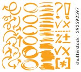 hand drawn arrows and graphic... | Shutterstock .eps vector #292592597