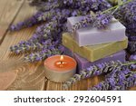 natural lavender soap on a... | Shutterstock . vector #292604591