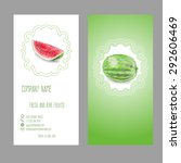 business card with watermelon...   Shutterstock .eps vector #292606469