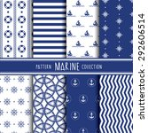 marine pattern collection.... | Shutterstock .eps vector #292606514