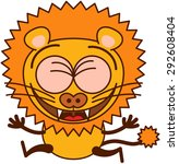cute lion in minimalistic style ... | Shutterstock .eps vector #292608404