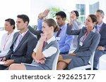 business team having a meeting... | Shutterstock . vector #292625177