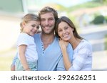 portrait of happy family having ... | Shutterstock . vector #292626251