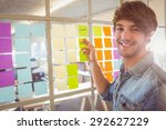 young creative businessman at... | Shutterstock . vector #292627229