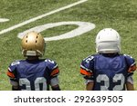 playing football on a sunny day | Shutterstock . vector #292639505
