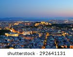 View Over The Athens At Night ...