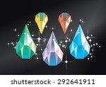vector diamond water drop...   Shutterstock .eps vector #292641911