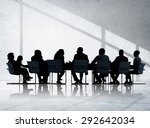 business people conference... | Shutterstock . vector #292642034