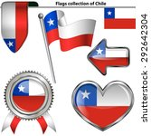 vector glossy icons of flag of... | Shutterstock .eps vector #292642304