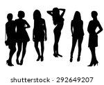 woman silhouettes design fashion   Shutterstock .eps vector #292649207