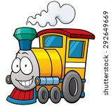 Vector illustration of cartoon train - stock vector
