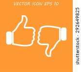 thumb up icon  flat design.  | Shutterstock . vector #292649825