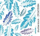 autumn pattern. blue beautiful...   Shutterstock .eps vector #292655084