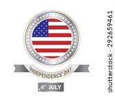 banner silver american... | Shutterstock .eps vector #292659461