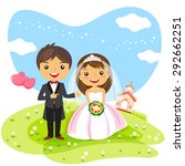 wedding invitation couple... | Shutterstock .eps vector #292662251